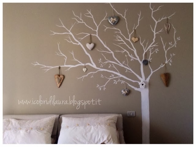 Murales shabby chic sweet white tree i colori di laura - Camerette shabby chic ...