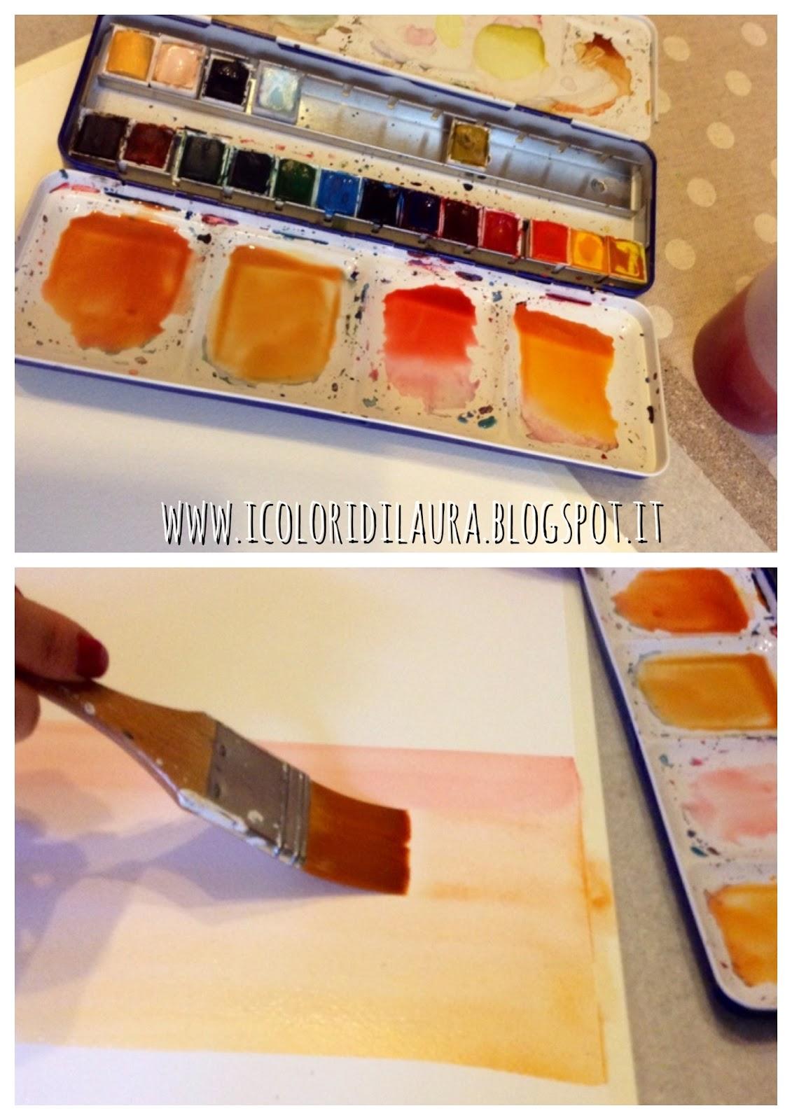 Come Creare Texture Sfondi Con Lacquerello I Colori Di Laura