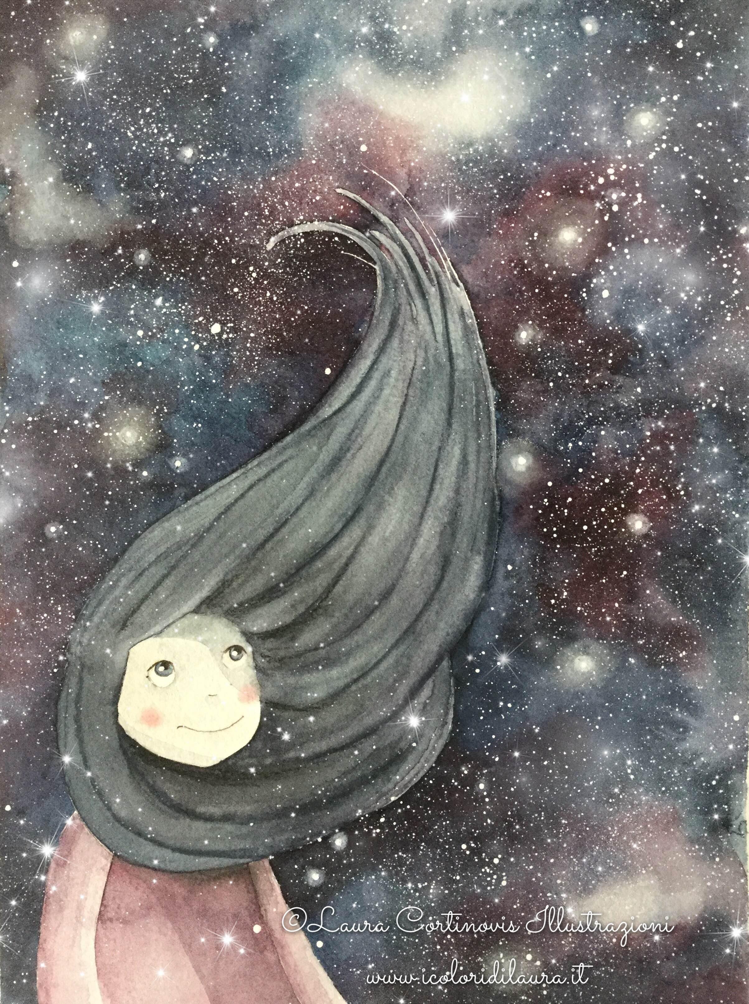 Come dipingere un cielo stellato - I colori di Laura